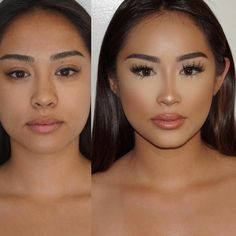 Concealer all the way to nose