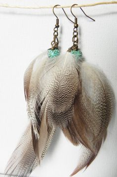 Dance-- Natural Grey Brown White Duck Feather by girlandherdog, $14.50