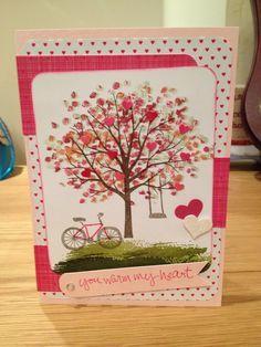 Glückwunschkarte mit Baum der Freundschaft / congratulation card - sheltering tree - Stampin Up