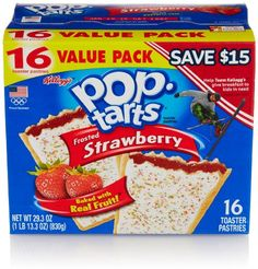 Kellogg's Pop-Tarts Frosted Strawberry Toaster Pastries - Fun Breakfast for Kids, Value Pack Count) Breakfast For Kids, Best Breakfast, Breakfast Recipes, Gourmet Recipes, Snack Recipes, Snacks, Strawberry Pop Tart, Food Reviews, Just Desserts