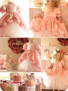 Dancing on a Cloud Princess Gown. A beautiful dress for a little girl's princess party. The page also has a link to the Princess Gown Bustle Tutorial.