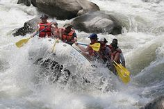 White water rafting (shown here on the Kern River in Central California). Put this total adrenalin rush on your bucket list.