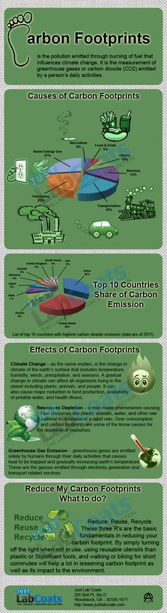 Carbon Footprint is the pollution emitted through burning of fuel that influences climate change.