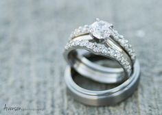Wedding rings photographed by Avenson Photography.