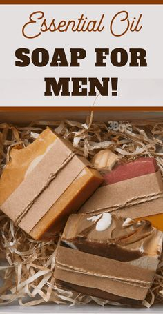 This essential oil soap recipe for men provides a woodsy, spicy scent that men will love. This recipe makes the perfect DIY gift for the men in your life! for men Essential Oil Soap Recipe for Men Handmade Soap Recipes, Soap Making Recipes, Handmade Soaps, Diy Soaps, Diy Soap Scents, Diy Soap Gifts, Diy Savon, Savon Soap, Mens Soap