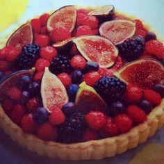 Berry Tart: blueberries, blackberries or rasberries, figs, red currant ...