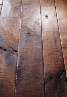 Dark, Distressed Wood Floors!