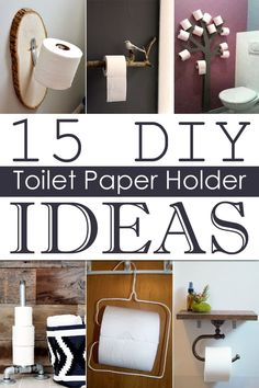 Diy toilet paper holder ideas to add a little more style to your bathroom try to Toilet Paper Holder Extender, Diy Toilet Paper Holder, Paper Holders, Toilet Paper Storage, Diy Bathroom Remodel, Diy Bathroom Decor, Diy Home Decor, Bathroom Remodeling, Diy Rangement