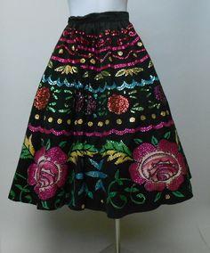 Vintage 1950s Mexican Circle Skirt [ MexicanConnexionForTile.com ] #fashion