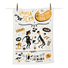 Weeding Invitation · Tea Towel