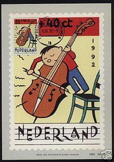 NEDERLAND 1982 MUSIC CHILDREN STAMPS 1st DAY MAX CARDS