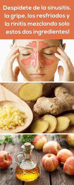 Remedios para la sinusitis, la gripe, los resfriados y la rinitis. #remedios #remedioscaseros