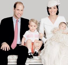Royal Family Prince William and wife Katherine and son and daughter
