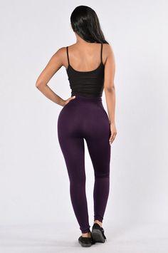 Yes Fleece Leggings - Purple