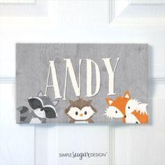 Woodland Door Sign