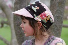 Baseball Mütze, Cadet cap Sonnen Mütze mit Schirm nähen - 6-8 Jahre - Free sunhat pattern. Make ones to match your children's summer sundresses or boy's shorts! {Clean. the LuSa Organics Blog}