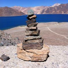 A small stone tower at pangong lake Leh, Travel Posters, Tower, Places, Tips, Nature, Rook, Naturaleza, Computer Case