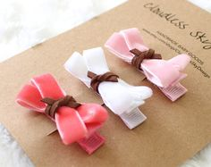 Set of 5 baby hair clips baby hair bows flower by EverySpareMoment
