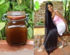Aqui está o segredo das indianas para fazer o cabelo crescer muito rápido Diy Hairstyles, Straight Hairstyles, Natural Hair Care, Natural Hair Styles, Hair Mask For Growth, Long Dark Hair, Atkins Diet, Beauty Recipe, Hairspray