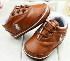 Polo Ralph Lauren baby boy crib shoes