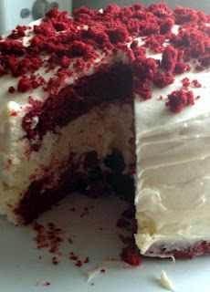 The Cheesecake Factory Copy Cat - Red Velvet Cheesecake!  Surprisingly easy and super delish!