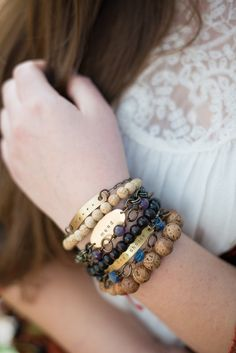 """This 25-bead mala bracelet helps you take the intention behind the five deep breaths practice even deeper. It also connects you to one of my favorite sayings, """"no mud, no lotus,"""" which invites you to remember that the tough stuff in your life becomes compost for all the goodness that blooms within."""