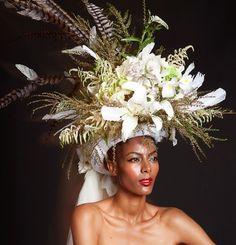 Burst of blooms large headpiece, head-dress