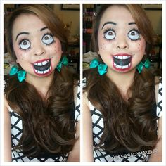 Halloween makeup ideas: Creepy Doll omg i want to do this!!! @Dayana Sterpin-Aguilar Ledesma i know you would like this