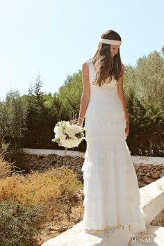8a80ffad1cb0f Danae con vestido de novia de Cymbelline Vestidos De Novia Informales