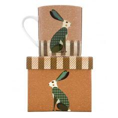 Magpie Dusk Wildlife Hare Mug in Gift Box