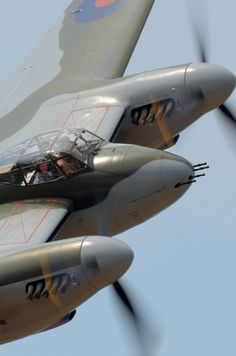 The de Havilland Mosquito was a British (RAF) multi-role combat aircraft with a two-man crew that served during and after the Second World War. De Havilland Mosquito, Ww2 Aircraft, Fighter Aircraft, Military Aircraft, Fighter Jets, Aircraft Engine, V Force, Ww2 Planes, War Machine