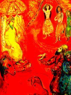 Chagall's Arabian Night series - Hawaii Museum of Art - Honolulu, Hawaii