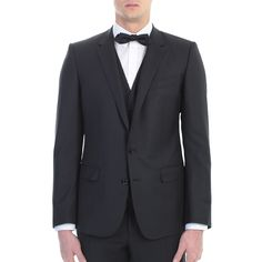 Dolce&Gabbana. Black silk and wool Martini suit. Made In Italy.