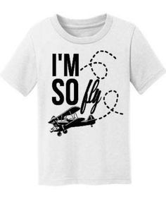 I'm So fly airplane first flight tee sassy by spillthebeansetc