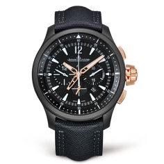 It is masculine, powerful, and seductive. The Master Compressor Chronograph Ceramic features a black ceramic case and a contemporary, sophisticated design, with complications that will appeal to men seeking powerful sensations.