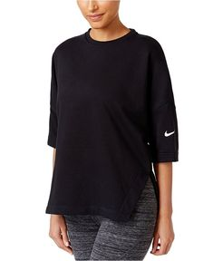 Nike Dry Mesh-back Training Top In Black/whit Long Length Shirts, Training Tops, Loose Shirts, Athletic Wear, Black Tops, Mesh, Pullover, Clothes For Women, How To Wear