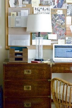 Love this home office makeover with @Hilary S Walker (including our Danish letter trays!)
