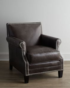 """""""Grand Turk"""" Leather Chair at Neiman Marcus."""