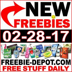 ►► NEW FREEBIE HOTLIST – FREE Stuff for February 28, 2017 ►► #Free, #FREEStuff, #Freebie, #Frugal, #HOTLIST, #Sample ►►