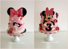 Minnie Mouse Cakes for twin girls