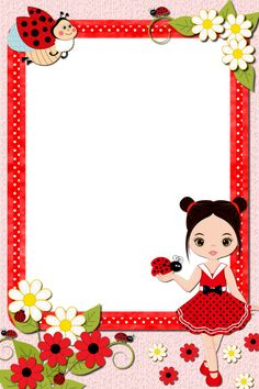 Boarder Designs, Page Borders Design, Body Parts Preschool Activities, Powerpoint Background Templates, Ladybug Rocks, Boarders And Frames, Kids Background, School Posters, Borders For Paper