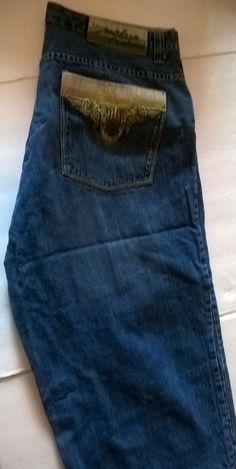 Miskeen Originals Men's Capri Jean Shorts Size 40 Embroidered Pockets #Miskeen #Denim