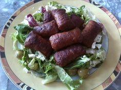 Salat mit Mini Bifteki