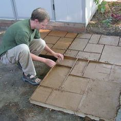 how to build a home entrance pathway with inexpensive brick pavers ... - Diy Concrete Patio Ideas