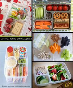 tons of healthy travel snack ideas, kinda look like the bento box lunches but i love new ideas! Healthy Travel Snacks, Lunch Snacks, Car Snacks, Snack Box, Lunch Box, Lunch Saludable, Road Trip Snacks, Little Lunch, Snack Recipes