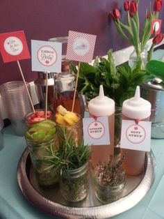 Steeplechase Tent Party Ideas, Kentucky Derby Party Recipes: Mint Julep Bar with all the fixings! Kentucky Derby Food, Kentucky Derby Party Ideas, Kentucky Derby Betting, Derby Recipe, Derby Day, Derby Time, Derby Dinner, Derby Horse, Run For The Roses