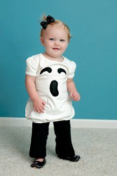 Children or Baby Haloween Costume : Ghost Dress - Made to Order