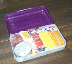 Insta-Eat Snack Packs: One Minute Munchies -  In the hours following a catastrophe but prior to the arrival of the Red Cross soup kitchens, it's not exactly easy to make up a sandwich or whip up some stew. Therefore, it's good to have some emergency snacks stashed away for this purpose. story in pencil boxes