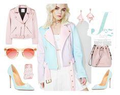"""FSJ pointed toe high heels summer pumps"" by fsjamazon ❤ liked on Polyvore featuring Sugarpills, MANGO, ban.do, Crap, Oscar de la Renta Pink Label and Armani Jeans"