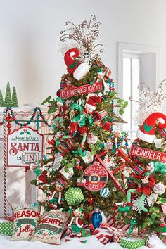 RAZ 2020 Christmas Trees — Trendy Tree Visit the Trendy Tree blog to see 12 years of Christmas tree inspiration from RAZ. #christmastree #christmasdecor #treeinspiration Christmas Tree Flowers, Christmas Tree Forest, Elegant Christmas Trees, Christmas Tree And Santa, Whimsical Christmas, Santa And Reindeer, Christmas Tree Themes, Christmas Art, Christmas Wreaths